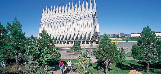 Air Force Academy Chapel- exterior