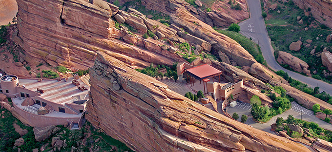 Red Rocks Amphitheater- Aerial