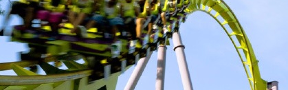 Roller Coaster's train in action