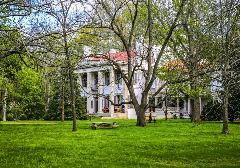 Nashville, TN, USA - April 4, 2016: People at the Belle Meade Plantation in Nashville in Tennessee