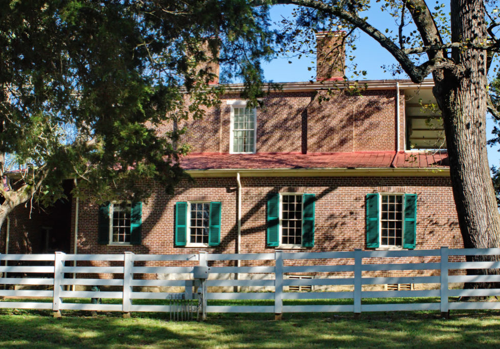 Manor house at the Hermitage in Nashville, Tennessee, USA