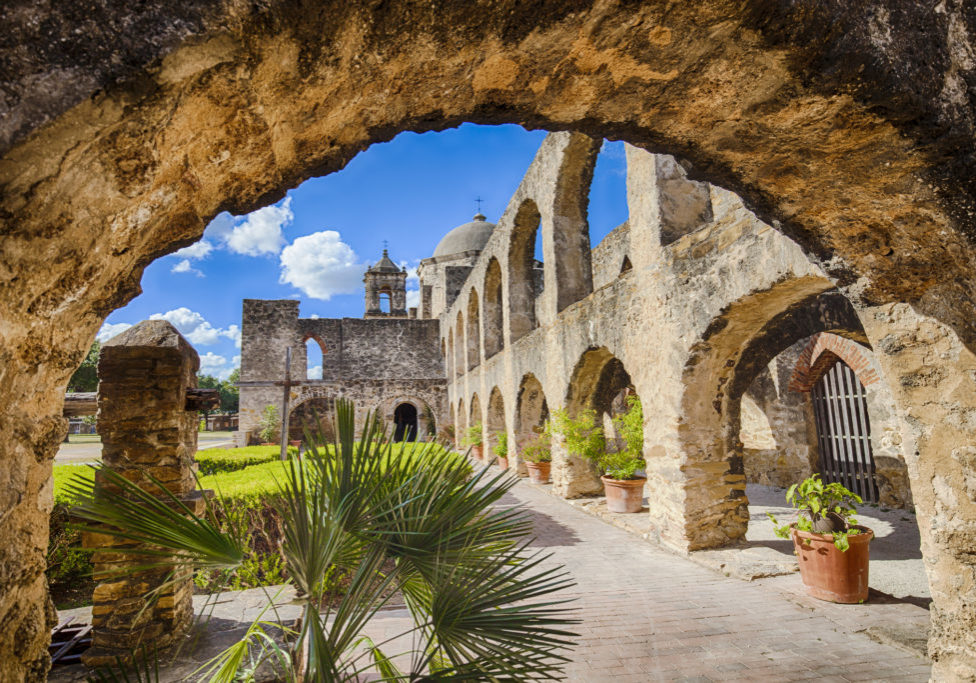 The Mission San Jose was completed in 1782.
