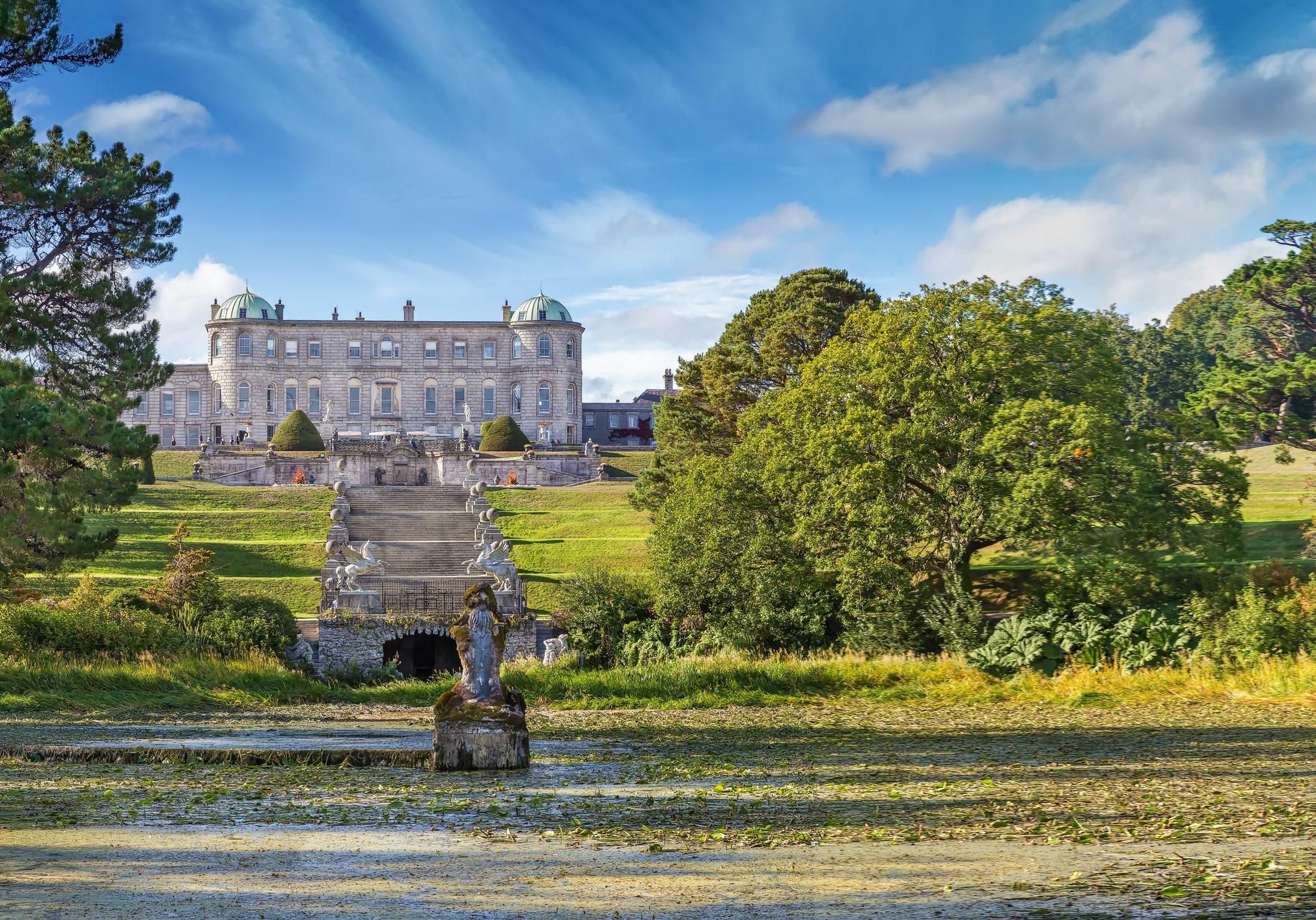 View of Powerscourt Estate from garden, Ireland
